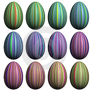 Easter Egg  Collection Royalty Free Stock Photography - Image: 8627077