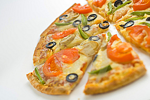 Homemade Pizza Fresh Tomato Olive Mushroom Cheese Royalty Free Stock Photos - Image: 8627078