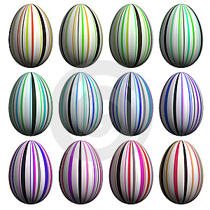 Easter Egg  Collection Stock Images - Image: 8627084