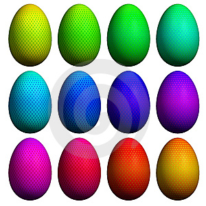 Easter Egg  Collection Stock Photos - Image: 8627093