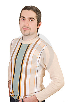 Young Handsome Male In Sweater Isolated Stock Images - Image: 8627774