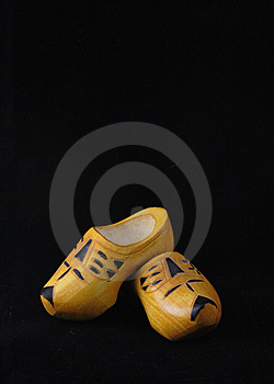 Yellow Wooden Shoes From The Netherlands Stock Photos - Image: 8628113