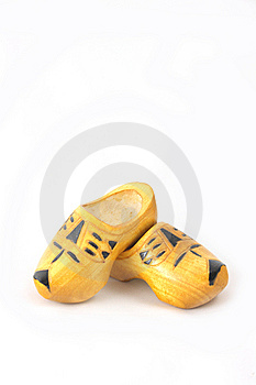 Yellow Wooden Shoes From The Netherlands Stock Photography - Image: 8628122
