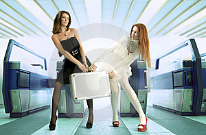 Sharing Out Between Women Royalty Free Stock Photography - Image: 8628157
