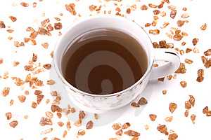Tea And Rock Candy Stock Image - Image: 8628181