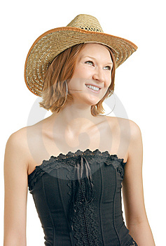 Girl With A Happy View Royalty Free Stock Image - Image: 8628226