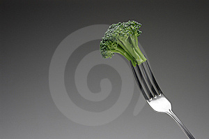 Broccoli On Fork, Horizontal Royalty Free Stock Photo - Image: 8628365