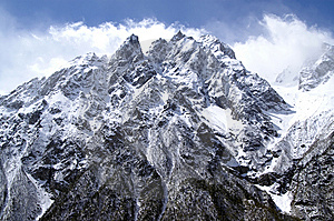 High Mountains Royalty Free Stock Image - Image: 8628576