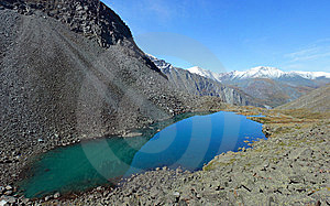 Altai. Mountain Lake. Royalty Free Stock Photography - Image: 8628787