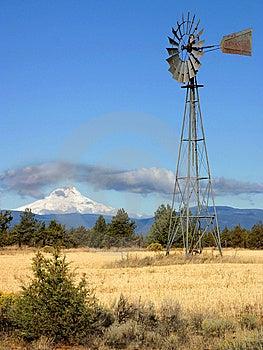 Windmill Mount Hood Royalty Free Stock Photography - Image: 8629097