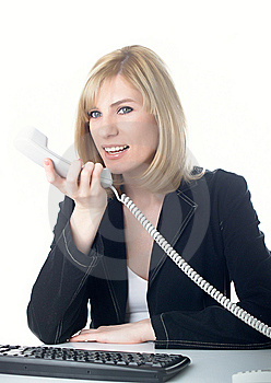 The Girl Speaks On The Phone Stock Photography - Image: 8629142