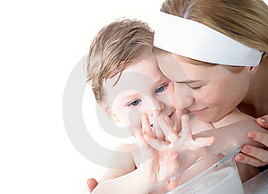 The Boy Washes Royalty Free Stock Image - Image: 8629366