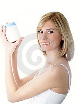 опарник руки косметик Стоковая Фотография RF - изображение: 8629427