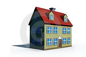 Isolated Big House Royalty Free Stock Photo - Image: 8629705