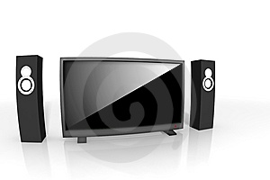 Home Theater / High Definition Television Royalty Free Stock Photography - Image: 8629717
