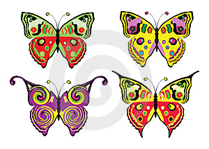 Set Of Butterflys Stock Images - Image: 8629784