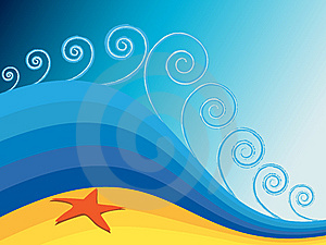 Golden Beach With Starfish Stock Photo - Image: 8630010
