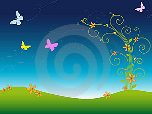 Kolorowa Ogrodowa Wiosna Obraz Stock - Obraz: 8630051