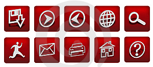Buttons Red Royalty Free Stock Image - Image: 8630206