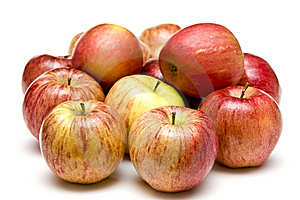 Bunch Of Apples On White Stock Images - Image: 8630664