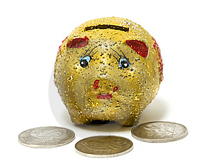 Yellow Piggy Bank Stock Images - Image: 8630794