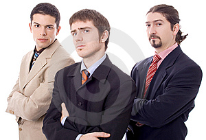 Three Business Men Royalty Free Stock Photo - Image: 8630975