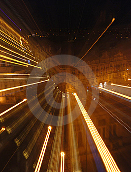 Light Wave From A Building Royalty Free Stock Image - Image: 8631396