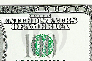 One Hundred Dollar Bill Close-up Shot Stock Image - Image: 8631571