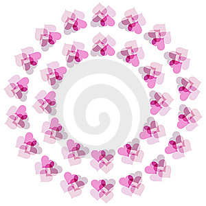 Flower Of Hearts Pattern Stock Images - Image: 8631624