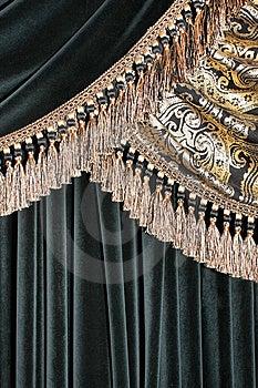 Luxurious Curtain Background Stock Photo - Image: 8631680