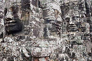 Faces Of Angkor Thom Stock Photos - Image: 8632123