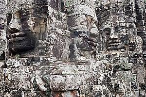 Faces Of Angkor Thom Stock Photos - Image: 8632123