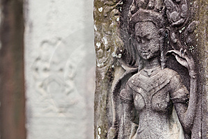 Carving At Angkor Thom Stock Photography - Image: 8632162