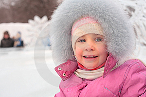 Little Girl Outdoors In Winter Stock Photos - Image: 8632163
