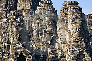 Faces Of Angkor Thom Stock Photos - Image: 8632213
