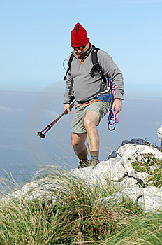 Hiking On The Top Of A Mountain Stock Photo - Image: 8632220