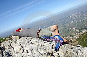 Hiking On The Top Of A Mountain Royalty Free Stock Images - Image: 8632279