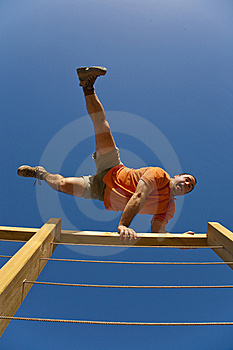 Jumping Over The Fence Royalty Free Stock Image - Image: 8632336