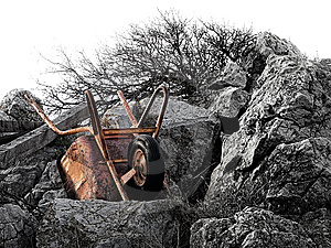 Rusty Wheelbarrow Stock Image - Image: 8632511