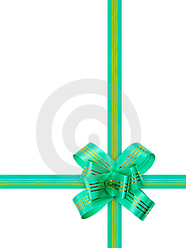 Green Bow And Ribbon Stock Image - Image: 8632541