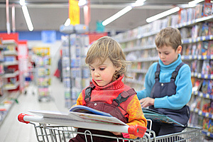 Children In Bookshop Stock Image - Image: 8632601