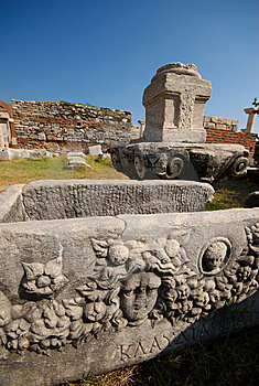 Sarcophagus And Stones Royalty Free Stock Images - Image: 8632759