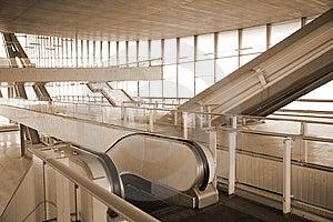Escalators In Glass Hall Stock Photo - Image: 8633130