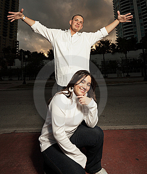 Young Urban Couple Royalty Free Stock Image - Image: 8633236