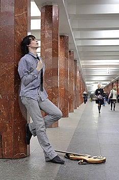 Musician At Metro Station Stock Image - Image: 8633391