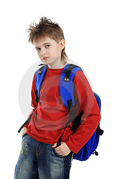 Modern Schoolboy Stock Photos - Image: 8633903