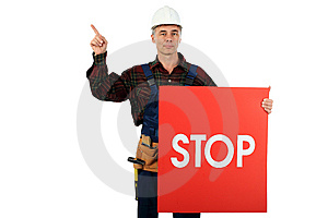 Stop Danger Stock Photo - Image: 8634110