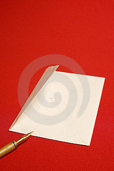 Envelope, Pen Royalty Free Stock Photos - Image: 8634158