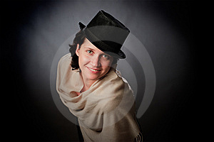 Female On A Grey Stock Photography - Image: 8634172