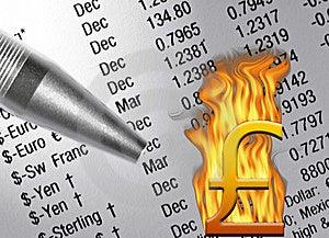 Pound Economy Troubles Royalty Free Stock Photos - Image: 8634618